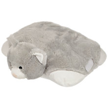 Buy John Lewis Cuddle Cat Travel Pillow Toy, Grey Online at johnlewis.com