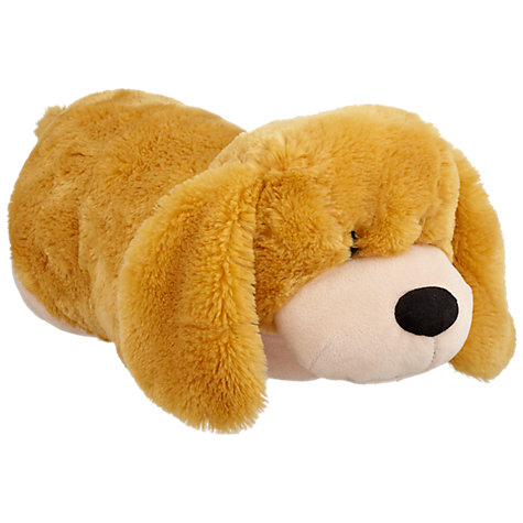 Buy John Lewis Cuddle Dog Travel Pillow Toy, Brown Online at johnlewis.com