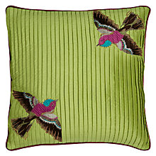 Buy Ted Baker Bird Cushion, Green Multi Online at johnlewis.com