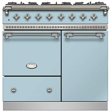 Buy Lacanche Beaune LG962GCTDBLDCHA Dual Fuel Range Cooker, Delft Blue / Chrome Trim Online at johnlewis.com