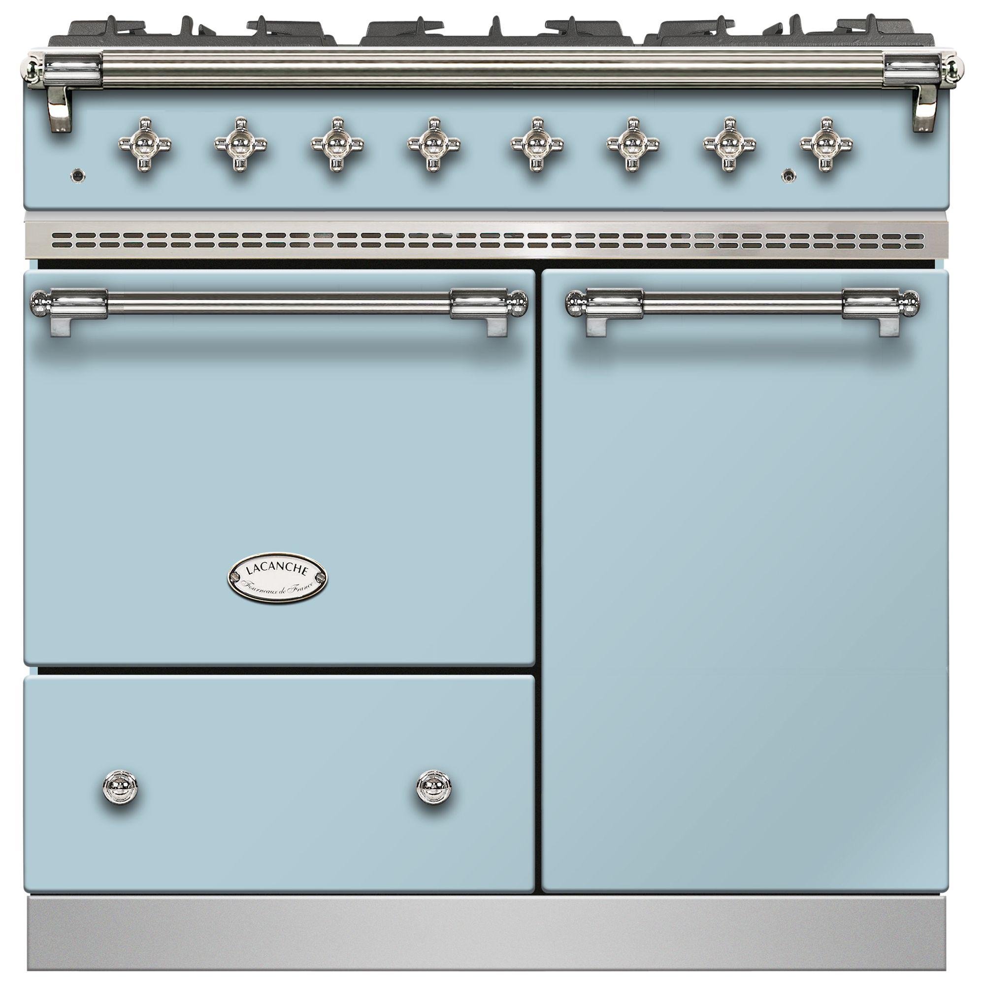 Lacanche Lacanche Beaune LG962GCTDBLDCHA Dual Fuel Range Cooker, Delft Blue / Chrome Trim