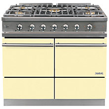 Buy Westahl Cluny WG1053GE Dual Fuel Range Cooker, Ivory Online at johnlewis.com