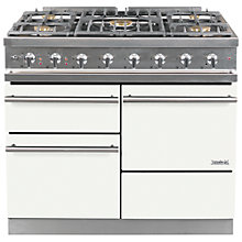 Buy Westahl Macon WG1053GECT Dual Fuel Range Cooker, White Online at johnlewis.com