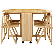 Buy John Lewis Butterfly Folding Dining Table and Four Chairs Online at johnlewis.com