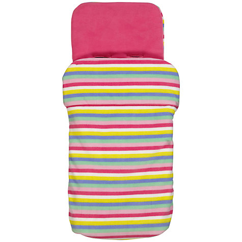 Buy John Lewis Baby Stripe Footmuff, Pink Online at johnlewis.com