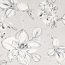 Buy John Lewis Stylo Flower Fabric, Grey Online at johnlewis.com