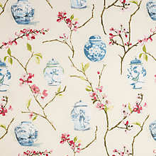 Buy John Lewis Oriental Jars Fabric, Pink Online at johnlewis.com