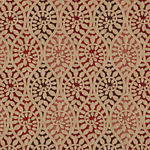 Buy John Lewis Valera Leaf Fabric, Red Online at johnlewis.com