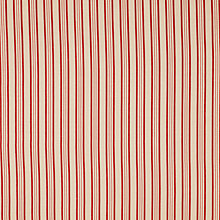 Buy John Lewis Yolo Stripe Fabric, Red Online at johnlewis.com