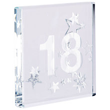 Buy Spaceform 18 Glitter Stars, Silver, Mini Online at johnlewis.com