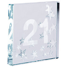 Buy Spaceform 21 Glitter Stars, Silver, Mini Online at johnlewis.com