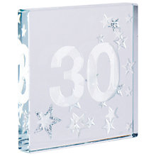 Buy Spaceform 30 Glitter Stars, Silver, Mini Online at johnlewis.com