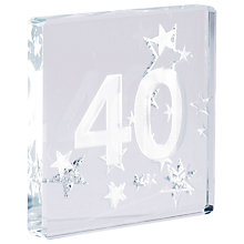 Buy Spaceform 40 Glitter Stars, Silver, Mini Online at johnlewis.com