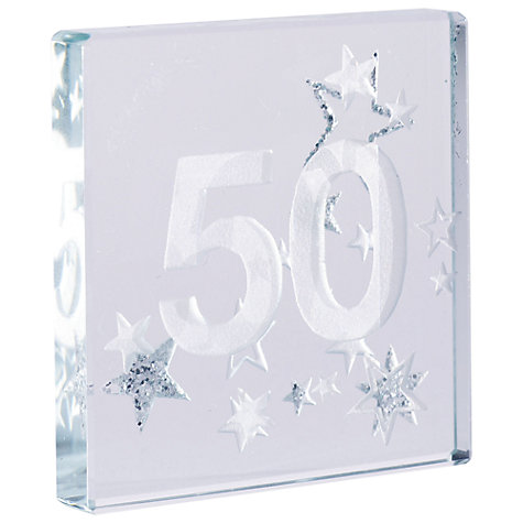 Buy Spaceform 50 Glitter Stars, Silver, Mini Online at johnlewis.com