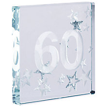 Buy Spaceform 60 Glitter Stars, Silver, Mini Online at johnlewis.com