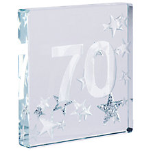 Buy Spaceform 70 Glitter Stars, Silver, Mini Online at johnlewis.com