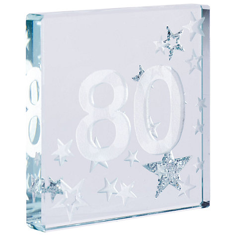 Buy Spaceform 80 Glitter Stars, Silver, Mini Online at johnlewis.com
