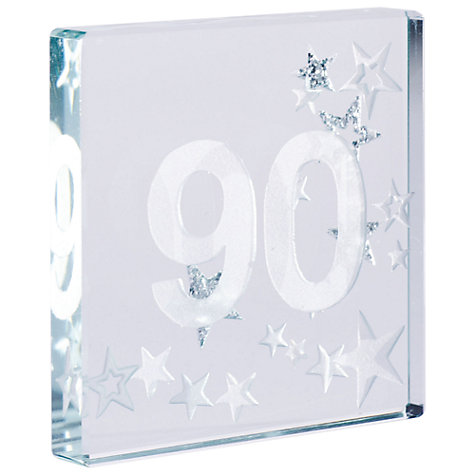 Buy Spaceform 90 Glitter Stars, Silver, Mini Online at johnlewis.com