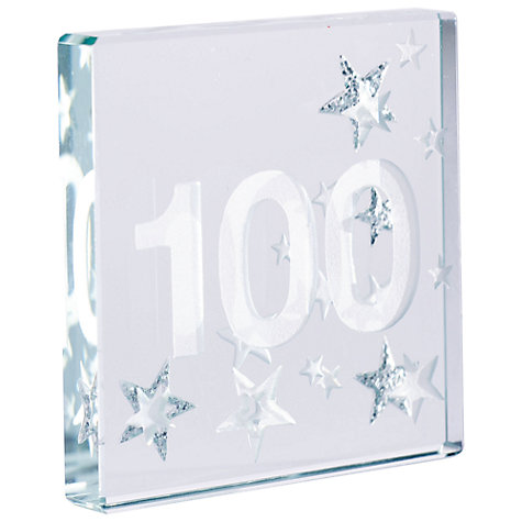 Buy Spaceform 100 Glitter Stars, Silver, Mini Online at johnlewis.com