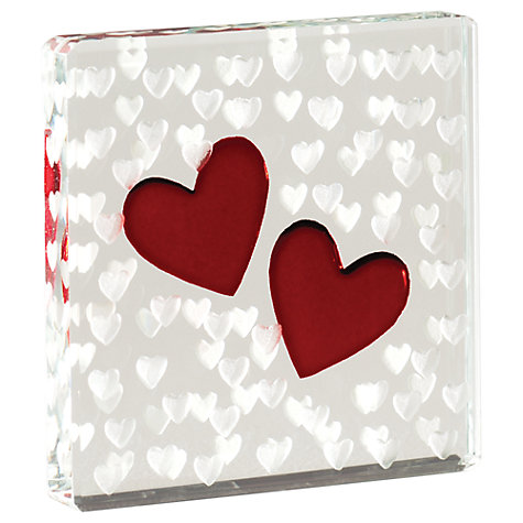 Buy Spaceform Hearts Token, Red, Mini Online at johnlewis.com