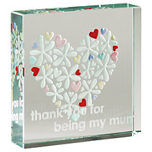 Buy Spaceform Thanks Mum Hearts and Flowers Ornament, Medium Online at johnlewis.com