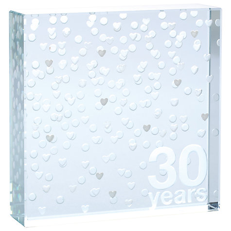 Buy Spaceform 30 Years Anniversary Paperweight, Silver, Medium Online at johnlewis.com