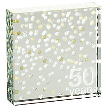 Buy Spaceform 50 Years Anniversary Paperweight, Gold, Medium Online at johnlewis.com