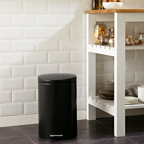 Buy Brabantia Pedal Bin with Food Trap, Matt Black, 20L Online at johnlewis.com