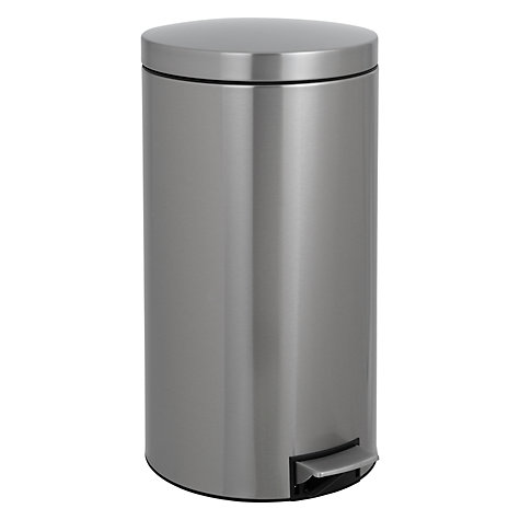 Buy Brabantia Pedal Bin, Fingerproof Matt Steel, 45L Online at johnlewis.com