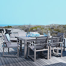 Buy John Lewis Bilbao Rectangular Outdoor Dining Set with 6 Armchairs, FSC Eucalyptus Online at johnlewis.com