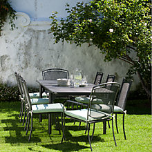Buy John Lewis Henley by Kettler Outdoor Extending Dining Set with 6 Chairs and 2 Armchairs, Steel Online at johnlewis.com