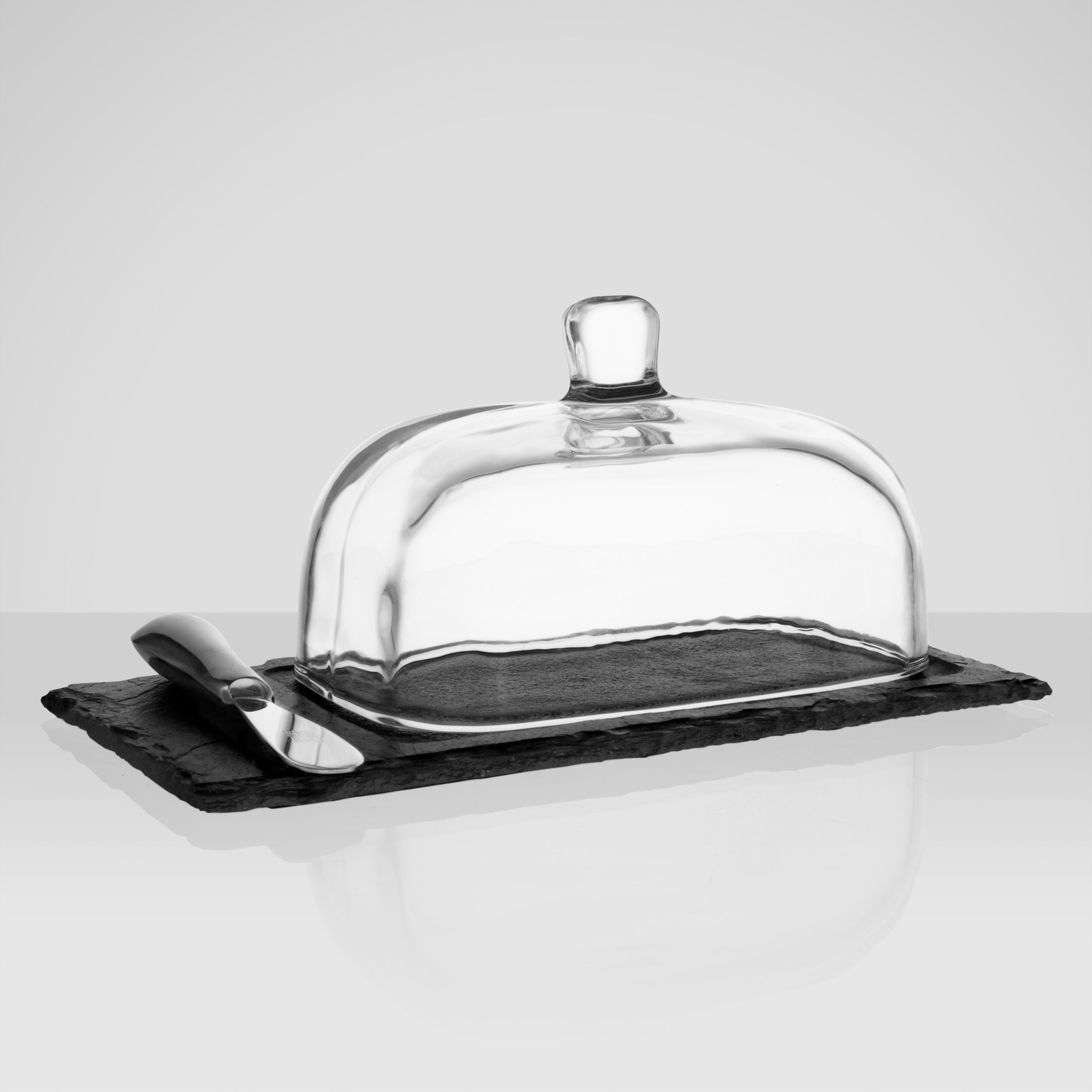 Just Slate Just Slate Butter Cloche with Knife, Large