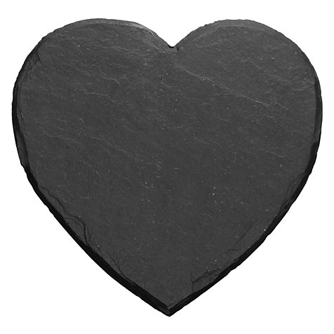Buy Just Slate Heart Shaped Coasters, Set of 4 Online at johnlewis.com
