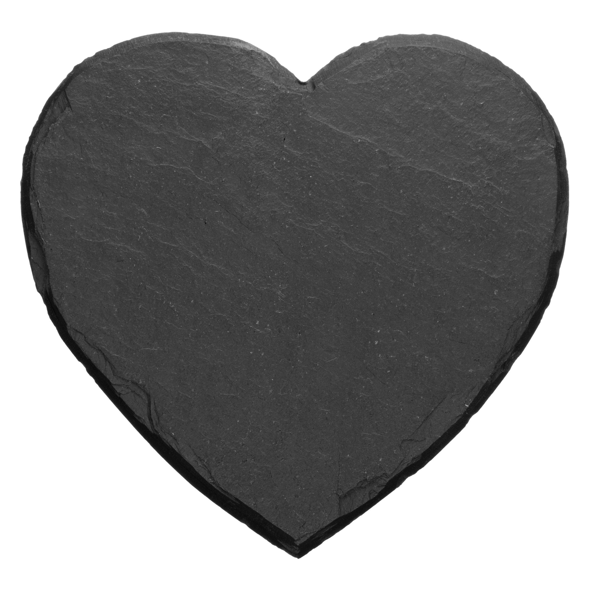 Just Slate Just Slate Heart Shaped Coasters, Set of 4