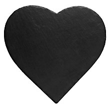 Buy Just Slate Heart Shaped Placemats, Set of 2, Dark Grey Online at johnlewis.com