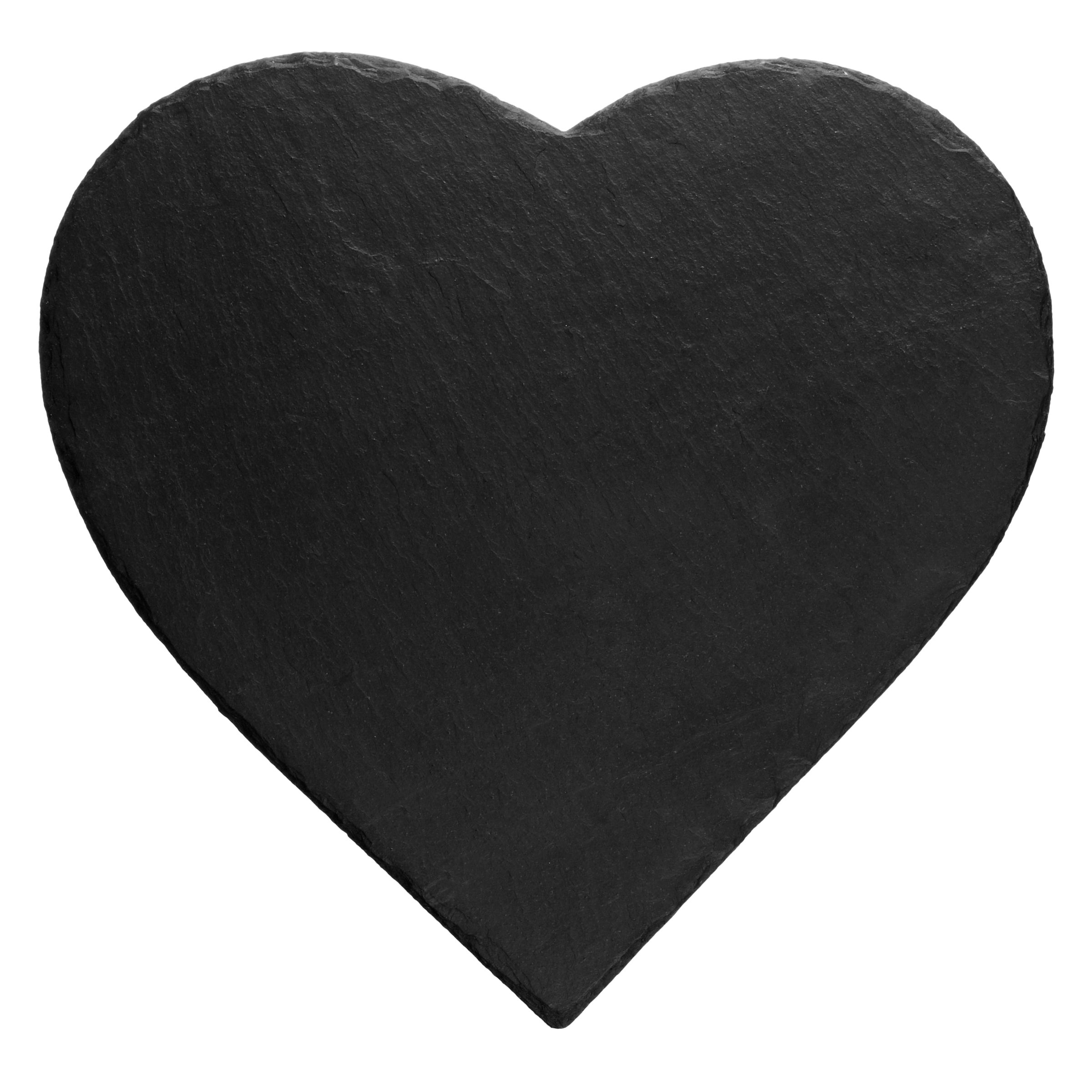 Just Slate Just Slate Heart Shaped Placemats, Set of 2, Dark Grey
