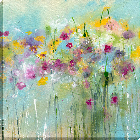 Buy Sue Fenlon - April Showers Print on Canvas, 90 x 90cm Online at johnlewis.com