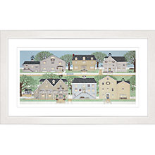 Buy Sally Swannell - Bramblings Village Framed Print, 47 x 78cm Online at johnlewis.com