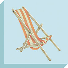 Buy Sally Swannell - Deckchair Print on Canvas, 30 x 30cm Online at johnlewis.com