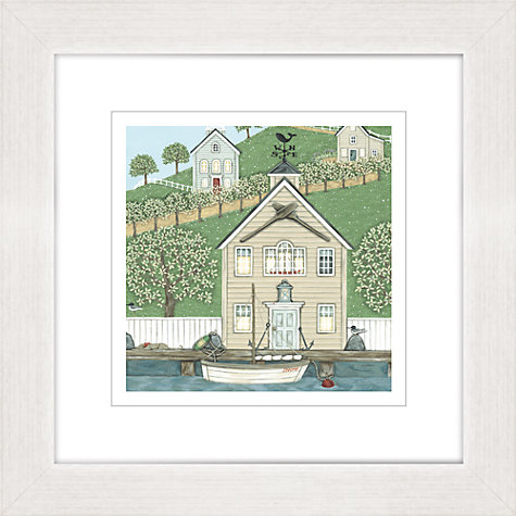 Buy Sally Swannell - Fisherman's House Framed Print, 37 x 37cm Online at johnlewis.com