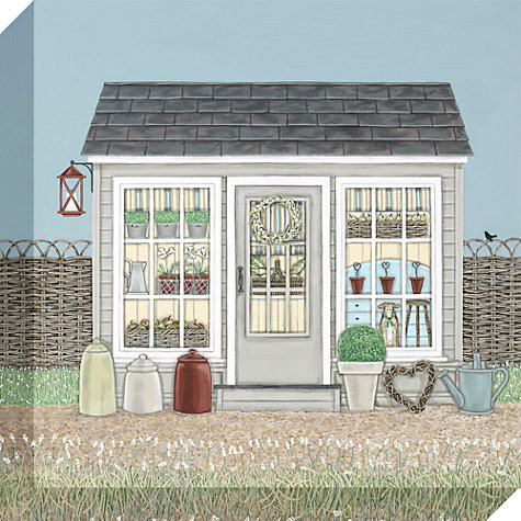 Buy sally swannell garden room print on canvas 30 x for Garden shed qatar