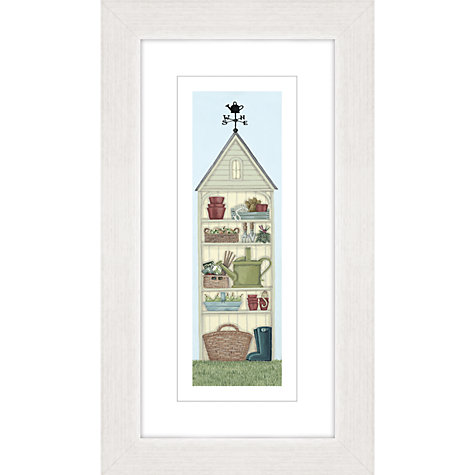 Buy sally swannell garden shed framed print 27 x 47cm for Garden shed qatar