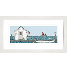 Buy Sally Swannell - House On The Jetty Framed Print, 37 x 67cm Online at johnlewis.com