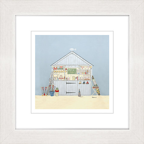 Buy Sally Swannell - Mos Cafe Framed Print, 37 x 37cm Online at johnlewis.com