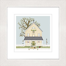 Buy Sally Swannell - Myrtle Cottage Printed Frame, 37 x 37cm Online at johnlewis.com