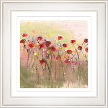 Buy Sue Fenlon - Poppies In The Rain Framed Print, 68 x 68cm Online at johnlewis.com