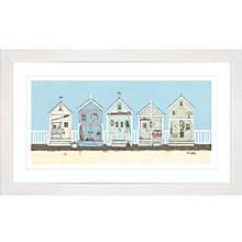 Buy Sally Swannell - Row Of Beach Huts Framed Print, 47 x 78cm Online at johnlewis.com