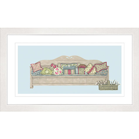 Buy Sally Swannell - Sofa With Cushions Framed Print, 47 x 78cm Online at johnlewis.com