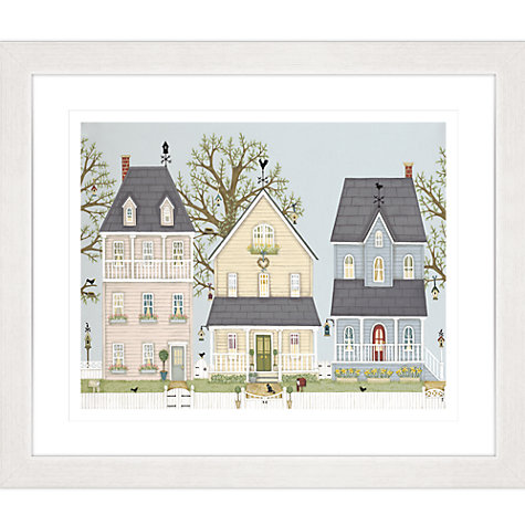 Buy Sally Swannell - Spring Houses Framed Print, 57 x 67cm Online at johnlewis.com