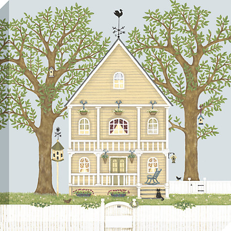 Buy Sally Swannell - Summer House Framed Print, 50 x 50cm Online at johnlewis.com